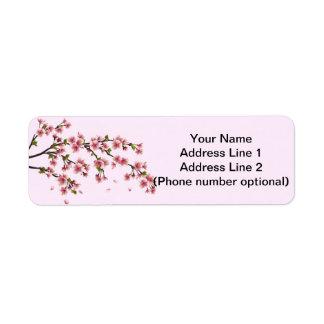 flor de cerezo etiquetas de remite