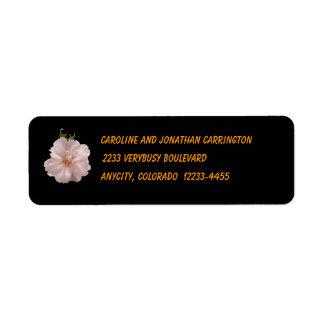 Flor de cerezo etiqueta de remite