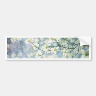 Flor de cerezo etiqueta de parachoque