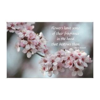 Flor de cerezo floral impresiones en lona estiradas