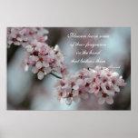 Flor de cerezo floral posters