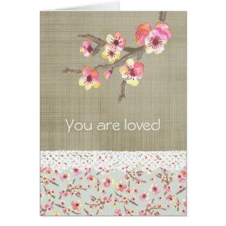 Flor de cerezo floral tarjeta de felicitación