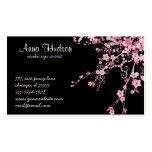 Flor de cerezo, flores de Sakura - negro rosado