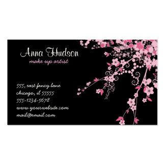 Flor de cerezo flores de Sakura - negro rosado