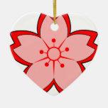 Flor de cerezo japonesa adornos