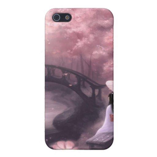 Flor de cerezo japonesa iPhone 5 carcasas