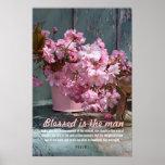 Flor de cerezo japonesa, poster del salmo 1