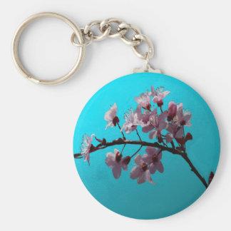 Flor de cerezo llavero redondo tipo pin
