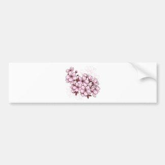 Flor de cerezo pegatina de parachoque