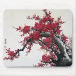 Flor de cerezo - pintura china Mousepad Tapete De Ratón