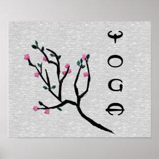 Flor de cerezo - poster de la yoga póster