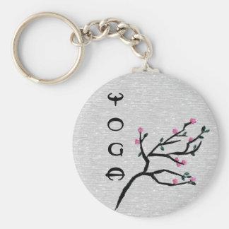 Flor de cerezo - regalos artísticos de la yoga llavero redondo tipo pin