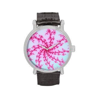 Flor de cerezo - remolinos rosados apacibles del f relojes de mano