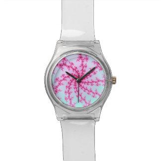 Flor de cerezo - remolinos rosados apacibles del f reloj de mano