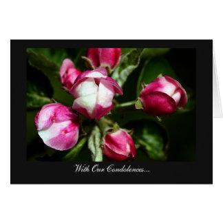 Flor de cerezo rosada - con nuestras condolencias tarjeta de felicitación