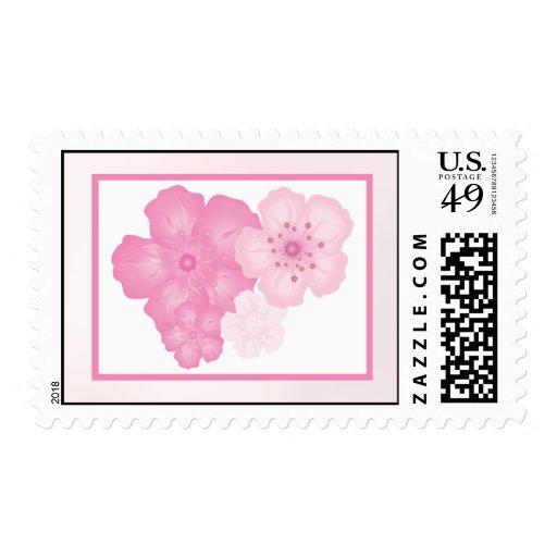 Flor de cerezo rosada de 20 sellos