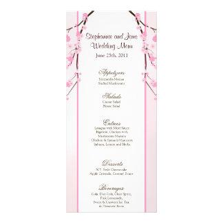 Flor de cerezo rosada de 25 tarjetas del menú tarjetas publicitarias personalizadas