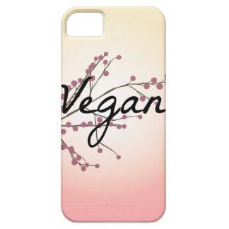 Flor de cerezo rosada del vegano funda para iPhone 5 barely there