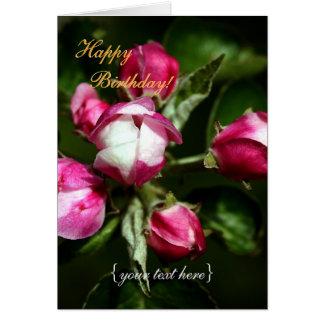 Flor de cerezo rosada - feliz cumpleaños tarjeta de felicitación
