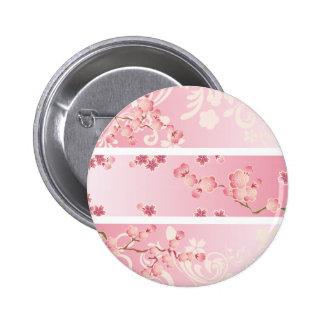 Flor de cerezo rosada pins