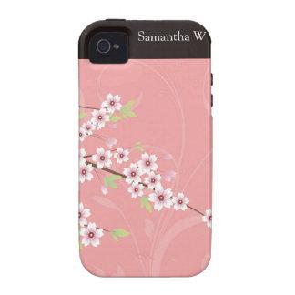 Flor de cerezo rosada suave iPhone 4/4S carcasas