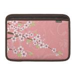 Flor de cerezo rosada suave fundas para macbook air