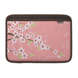 Flor de cerezo rosada suave fundas MacBook