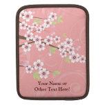 Flor de cerezo rosada suave fundas para iPads