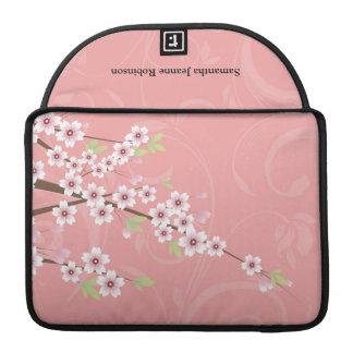 Flor de cerezo rosada suave fundas para macbook pro