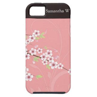 Flor de cerezo rosada suave iPhone 5 funda