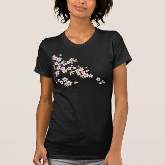 Flor de cerezo rosada suave camiseta
