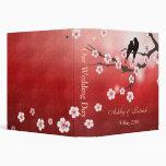 Flor de cerezo Sakura y pájaros del amor que casan