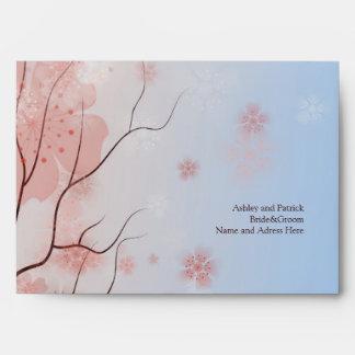 Flor de cerezo Sakura y sobre de los tragos del