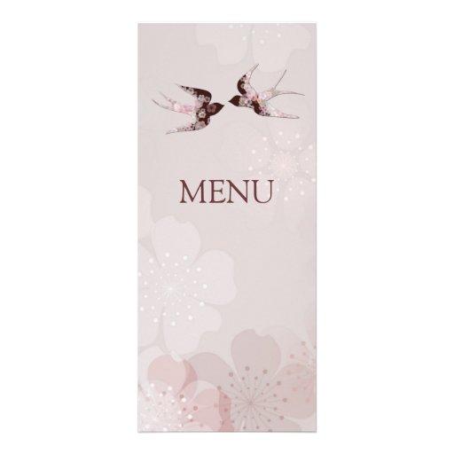 Flor de cerezo Sakura y tragos del amor que casan  Comunicado Personalizado