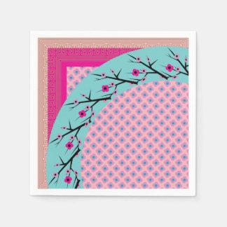 Flor de cerezo servilletas de papel