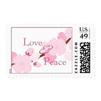 Flor de cerezo soñadora sello postal
