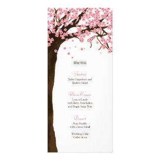 Flor de cerezo/tarjeta del menú de la acuarela de  tarjeta publicitaria