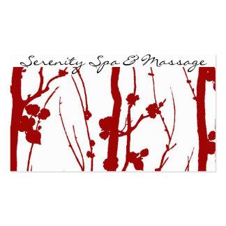 flor de cerezo tarjetas de visita
