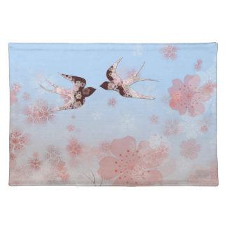 Flor de cerezo y americano floral MoJo P de los tr Mantel