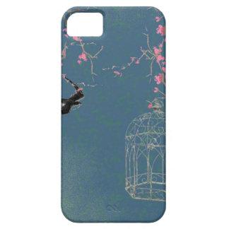 Flor de cerezo y birdcage funda para iPhone SE/5/5s