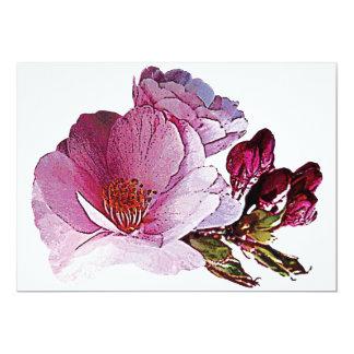 """Flor de cerezo y brotes invitación 5"""" x 7"""""""