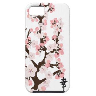 Flor de cerezo y casamata del kanji dura iPhone 5 funda