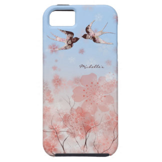Flor de cerezo y caso floral del iPhone de los Funda Para iPhone 5 Tough