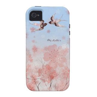 Flor de cerezo y caso floral del iPhone de los iPhone 4/4S Carcasa