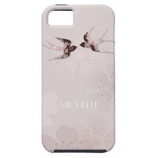 Flor de cerezo y caso floral del iPhone de los tra iPhone 5 Case-Mate Funda