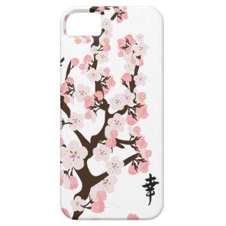 Flor de cerezo y kanji iPhone 5 cárcasa