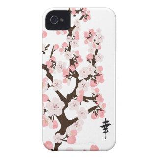 Flor de cerezo y kanji Case-Mate iPhone 4 funda