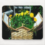 Flor de cesta Mousepad Alfombrilla De Ratón