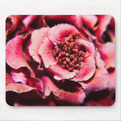 Flor de color de malva alfombrilla de raton