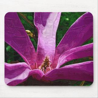 Flor de color de malva de la magnolia tapetes de ratones